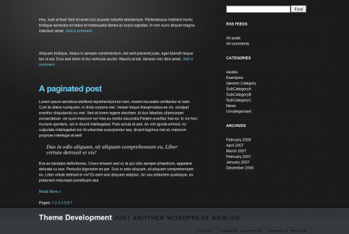 A Preview of The WordPress Theme MNML