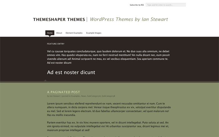 A preview of Theseus, A WordPress Theme for Your Maze of Content
