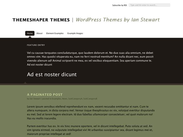 Theseus, A WordPress Theme
