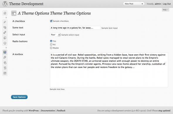 A Sample WordPress Theme Options Page – ThemeShaper