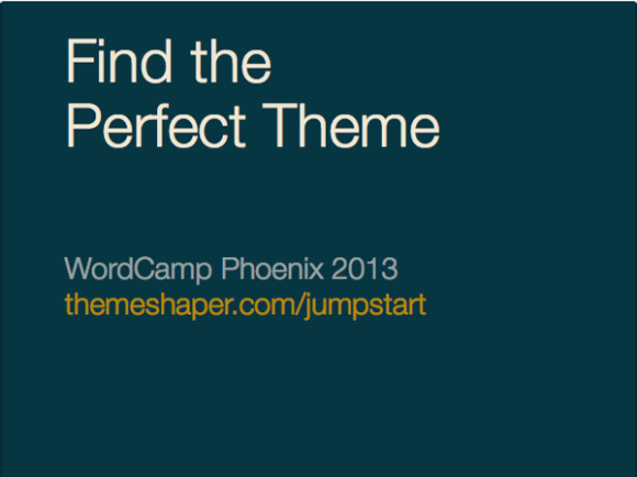 Jumpstart into Themes – ThemeShaper