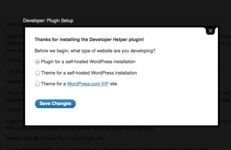 Developer Plugin Setup