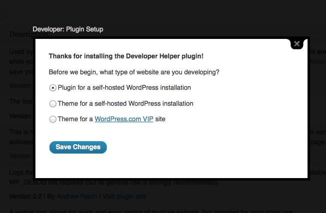 Developer Plugin Setup