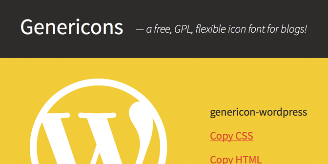 The Genericons Icon FontStory