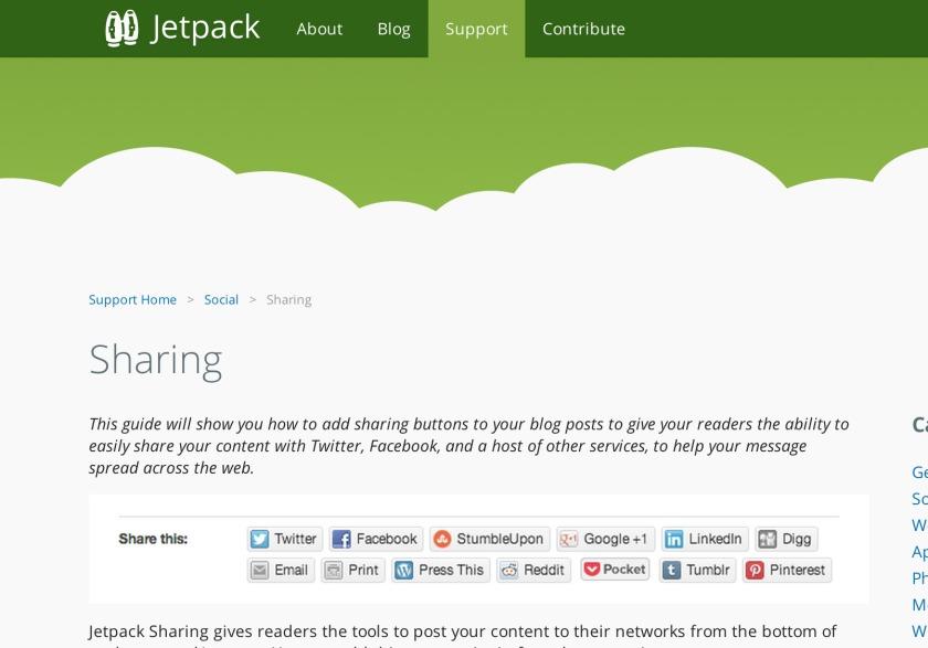 Customizing Jetpack's Sharing module – ThemeShaper