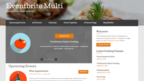 The Eventbrite Multi theme by Voce Communications.