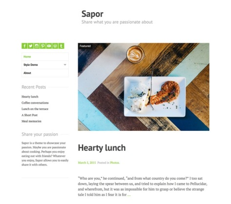 Sapor screenshot