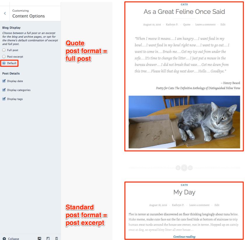 Default blog display option in Button
